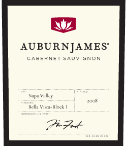 2008 AuburnJames Cabernet Sauvignon Napa Valley Bella Vista Vineyard Block #1