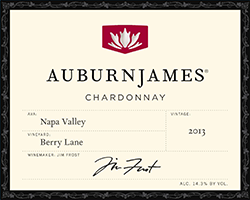 2013 AuburnJames Chardonnay Berry Lane Napa Valley